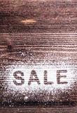 Sale composition. Studio shot Royalty Free Stock Photography