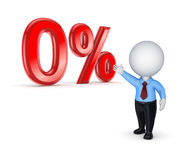 Sale concept. 0%.Isolated on white.3d rendered. See my other works in portfolio Royalty Free Stock Images