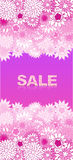 Sale concept background. Word sale made of pink flowers. Stock Images
