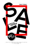 Sale concept banner Stock Photos