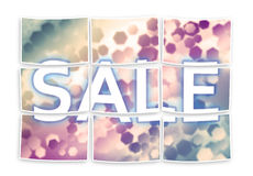 Sale concept with colored hexagonal background designs - multiph Royalty Free Stock Photos
