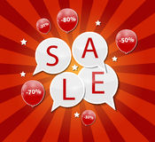 Sale Concept of Discount. Vector Illustration. Stock Photography