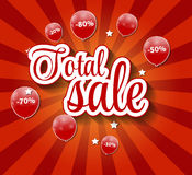 Sale Concept of Discount. Vector Illustration. Royalty Free Stock Image