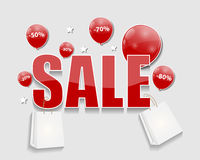 Sale Concept of Discount. Vector Illustration. Royalty Free Stock Photo