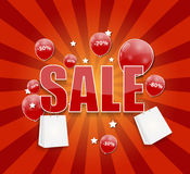 Sale Concept of Discount. Vector Illustration. Royalty Free Stock Photos
