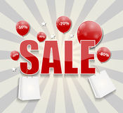 Sale Concept of Discount. Vector Illustration. Royalty Free Stock Photography