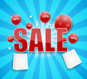 Sale Concept of Discount. Vector Illustration. Stock Image