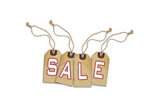 Sale concept, formed of textured tags Royalty Free Stock Images
