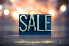 Sale Concept Metal Letterpress Type Royalty Free Stock Photography