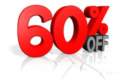 Sale concept, 60% off. Sale concept - great for topics like special offer, discount, shopping, commerce etc Stock Image