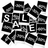 Sale concept with photo frames Stock Photography