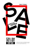Sale concept poster Royalty Free Stock Images