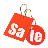 Sale concept - price tags isolated Royalty Free Stock Photo