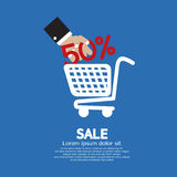 Sale 50% Concept. Vector Illustration Royalty Free Illustration