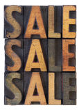 Sale concept - vintage wood types Stock Photo