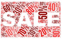 Sale concept in word tag cloud Stock Photo