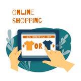 Sale consumerism, online-shoping begrepp stock illustrationer