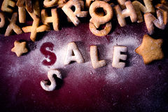 Sale cookies Royalty Free Stock Photos