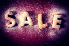 Sale cookies Royalty Free Stock Photo