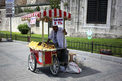 Sale of corn in Istanbul. Stock Images