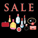 Sale of cosmetics Stock Images