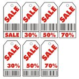 Sale coupon. Vector illustration of various sale coupons Royalty Free Stock Photo