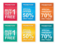 Sale coupon, offers promotions, discount sale vector template Stock Photo