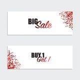 Sale Coupon, voucher, tag design. Vector illustration Stock Photo