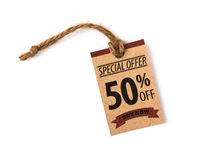 Sale Coupon, voucher, tag. Vintage. Style Stock Photos