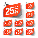 Sale coupons. Set of Sale coupons illustration Stock Photo