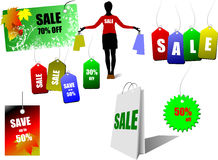 Sale coupons. Vector illustration Stock Images