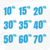 Sale coupons. Vector illustration. vector sales and percents ill Royalty Free Stock Images