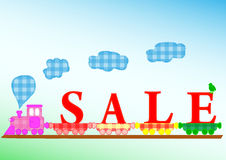 SALE. Crafts Inspired Vector Kids Illustration Stock Photo