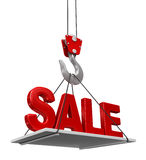 Sale On Crane Hook Stock Image