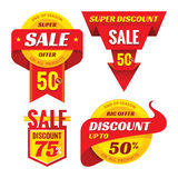 Sale - creative vector badges set. Special discount vector badges collection. Royalty Free Stock Image