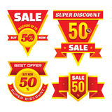 Sale - creative vector badges set. Special discount vector badges collection. Super offer concept stockers. Royalty Free Stock Photos