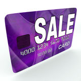 Sale On Credit Debit Card Shows Offer Bargain Promotion Stock Image