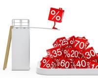 Sale cube figure jump stock illustration