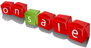 On sale cubes Royalty Free Stock Image