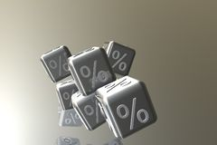 Sale Cubes Stock Photo