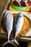 Sale of cut Fresh fish in street market in Vietnam Royalty Free Stock Images