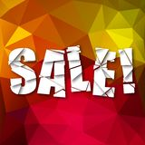 Sale Cut Paper Poster on bright background Stock Photo