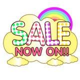 Sale cute now on rainbow Stock Photo