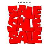 Sale. 3D red text SALE. Sale labels Royalty Free Stock Images