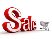 Sale 3D shopping Royalty Free Stock Image