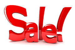Sale - 3d text Stock Photography