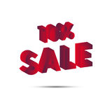 Sale. 3d text. Ten percent. Vector. Stock Photography