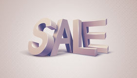 Sale 3d textmeddelande Royaltyfria Foton