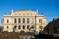 Sale da concerto di Rudolfiunum su Jan Palach SquarePrague Immagini Stock Libere da Diritti