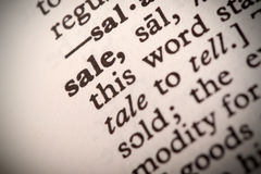 Sale Definition Royalty Free Stock Images